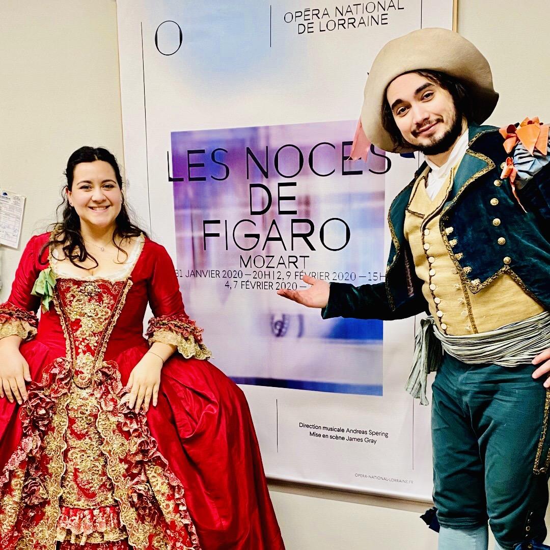 ADRIANA GONZALEZ & MIKHAIL TIMOSHENKO sont La Comtesse & Figaro dans Le Nozze di Figaro à Nancy