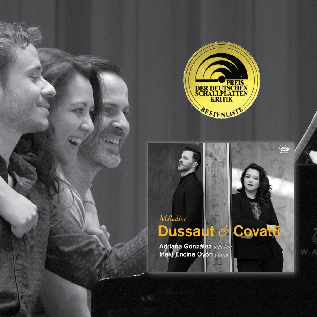AWARD FOR ADRIANA GONZALEZ CD Mélodies Dussaut & Covatti